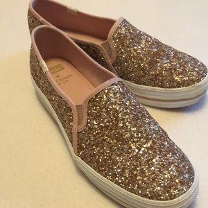 Kate spade glitter Slip on sneakers